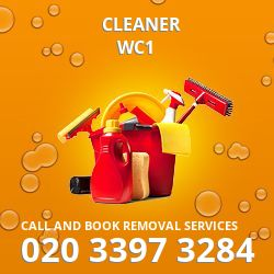 WC1 cleaner Bloomsbury