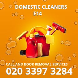 Limehouse domestic cleaners E14