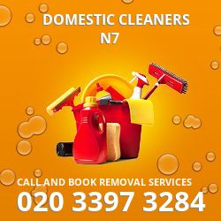 Holloway domestic cleaners N7