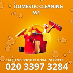 domestic house cleaning W1