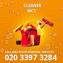 WC1 cleaner Bloomsbury