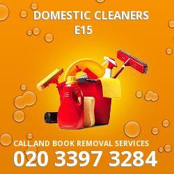 Stratford domestic cleaners E15