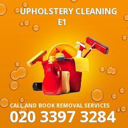 Spitalfields clean upholstery E1